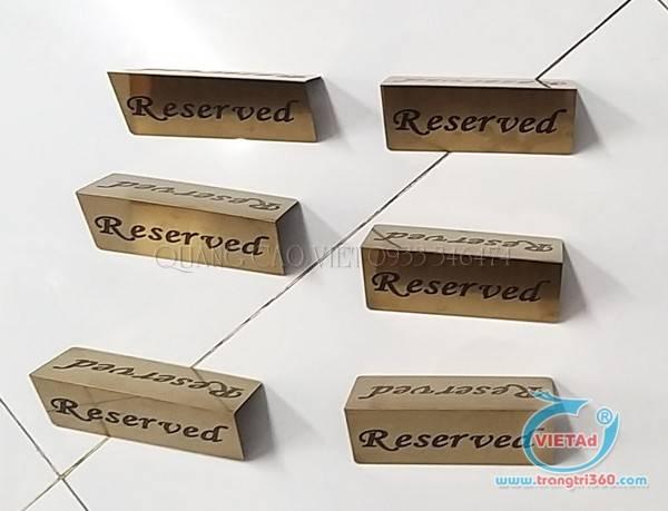 Bảng đặt bàn Reserved
