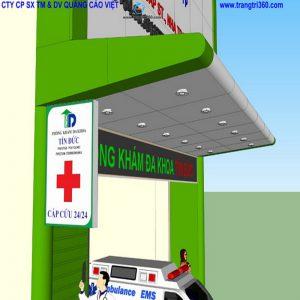 Thi công phòng khám aluminium Tín Đức Nha Trang