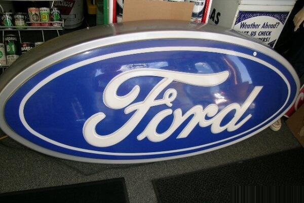 Logo Ford Ép Nổi 3D;