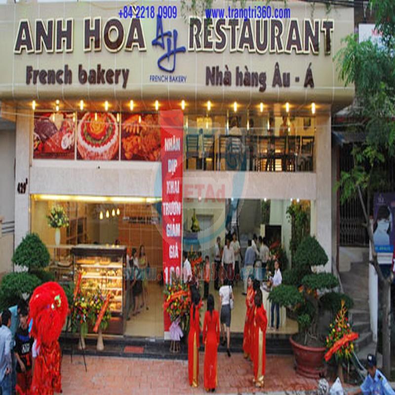 Bảng hiệu chữ mica đèn neon sign Thanh Thảo Restaurant