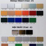 Bảng báo giá và bảng màu alu TAC | Top American