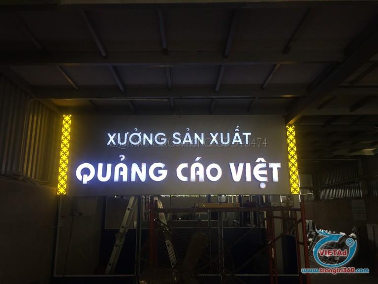 Bảng hiệu xưởng sản xuất Quảng Cáo Việt