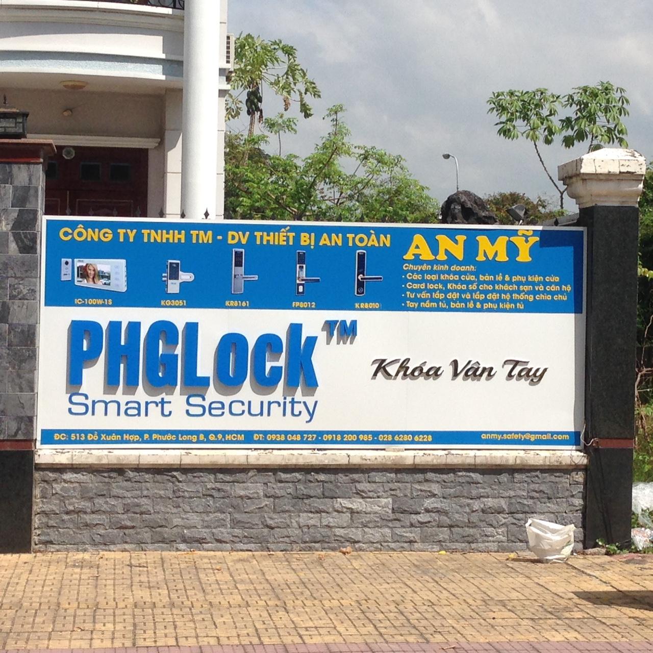 Chuỗi bảng hiệu alu chữ nổi mica PHGLock