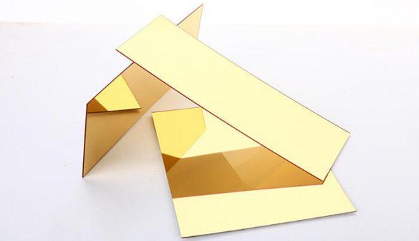 Báo giá tấm inox vàng gương