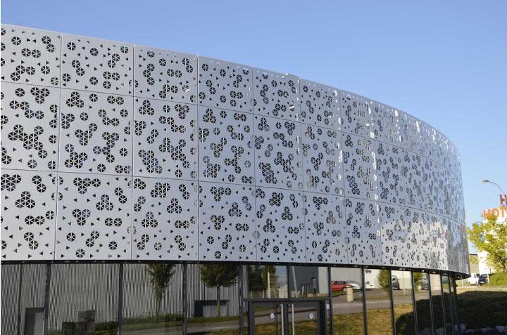 Mặt dựng nhôm laser   Aluminium laser facade