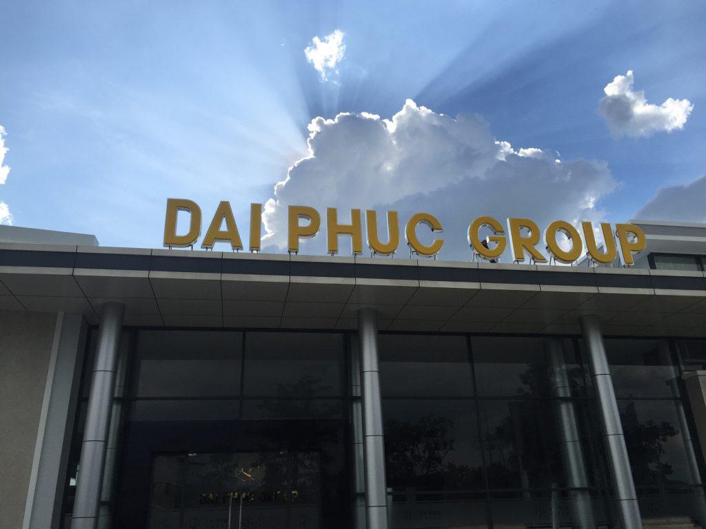 Chữ nổi tòa nhà Dai Phuc Group