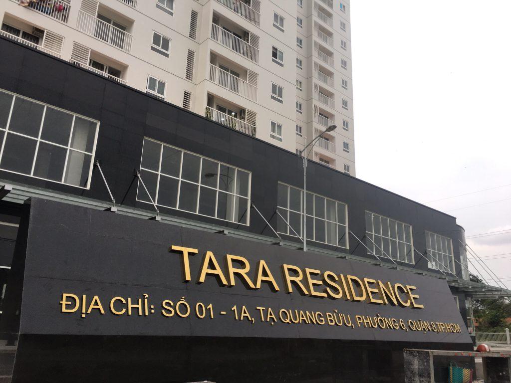 Chữ nổi tòa nhà chung cư