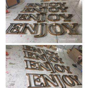Gia công cắt chữ nổi inox đẹp tại Bà Rịa Vũng Tàu.