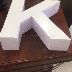 Chữ nhôm Hàn Quốc cao cấp không viền