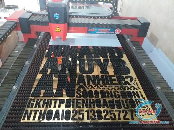 Cắt chữ inox vàng gương 304 và 201 bằng máy laser plasma
