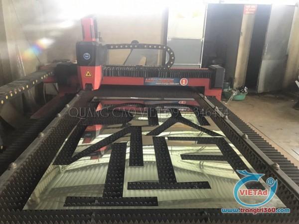 Bước cắt gia công laser chữ inox