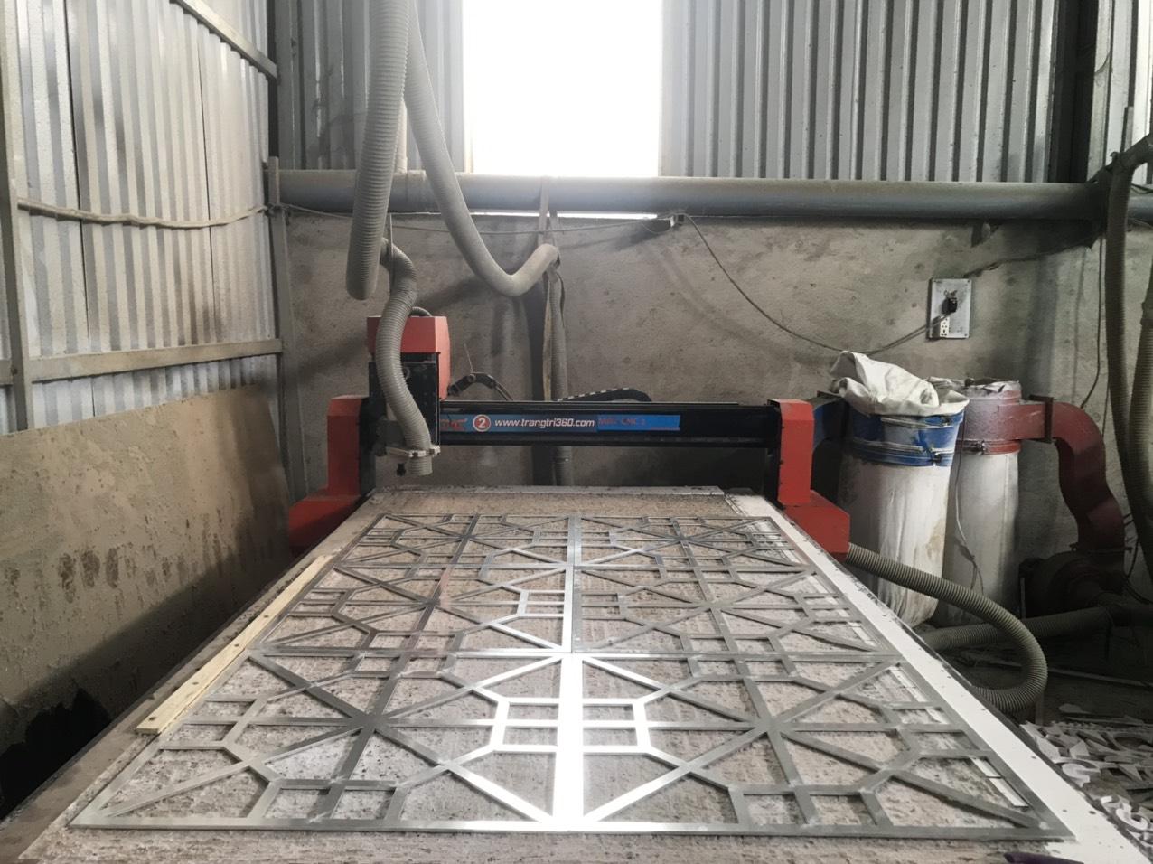 Gia công CNC nhôm tại xưởng Quảng Cáo Việt