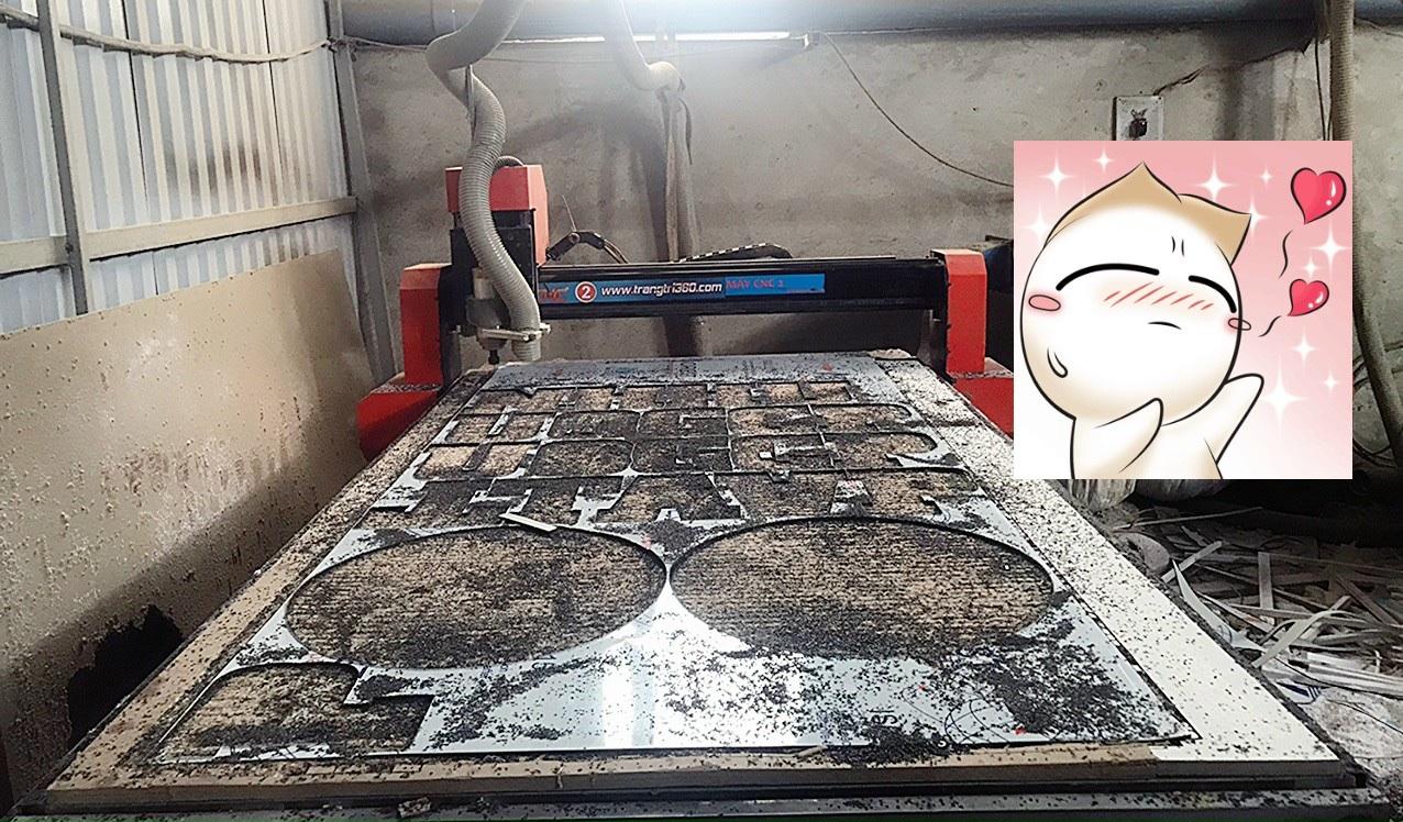 Xưởng cắt CNC alu